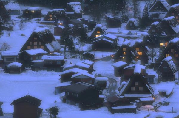 冬の白川郷 雪の積もった景色