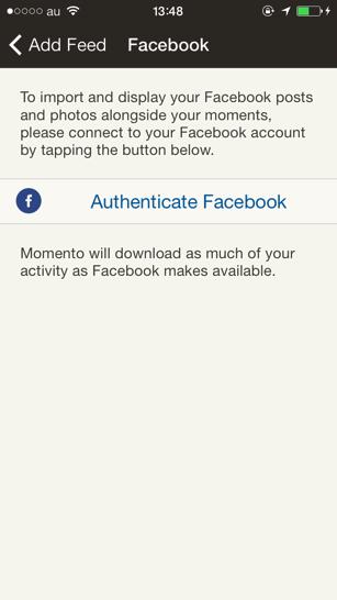 Facebookの設定画面