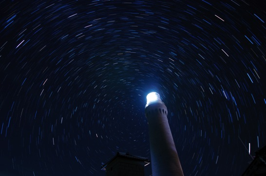 コンポジット撮影した星空