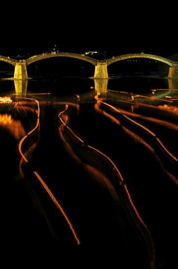 錦帯橋の鵜飼