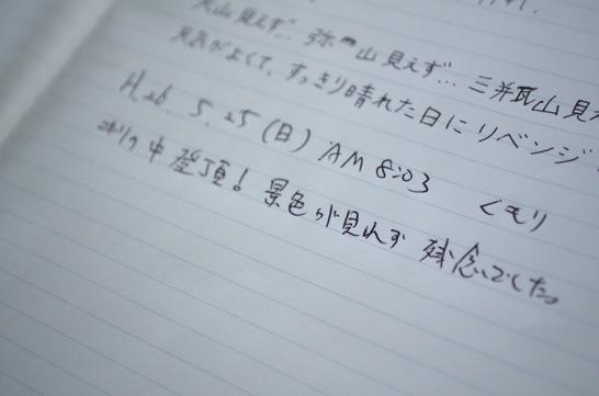 龍頭山ノート