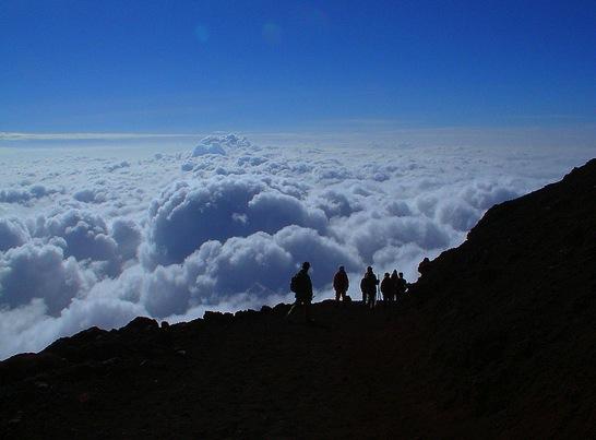 富士山 雲海