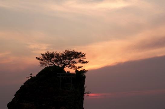 稲佐の浜 夕景