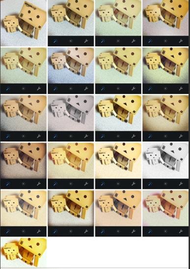 Instagramフィルタの比較