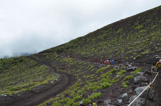 富士山六合目付近