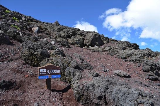 富士山標高3000m