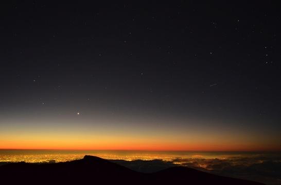 富士山剣ヶ峰からの光景