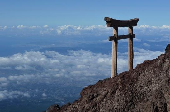 富士山の鳥居