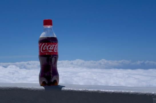 下山後のコーラ