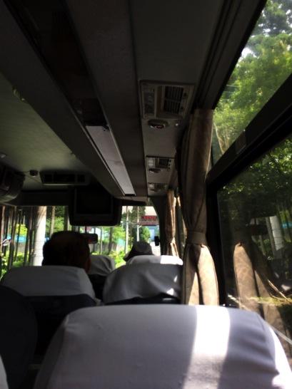 富士五合目行きのバス