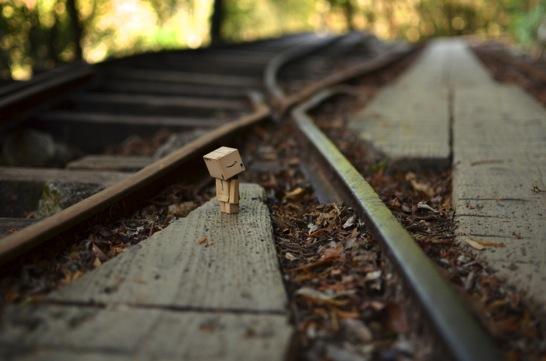 ダンボーと線路