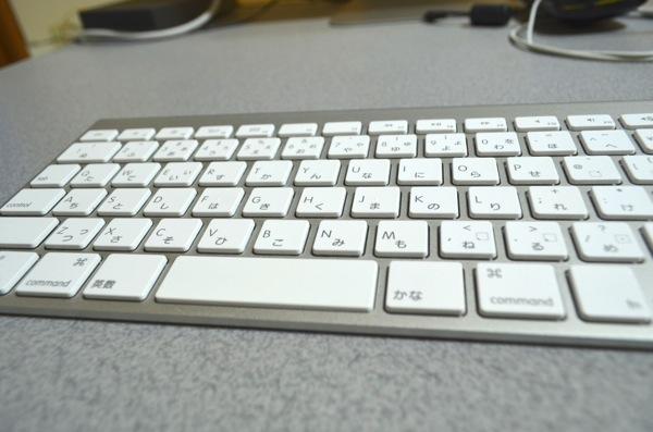 広角端でとったキーボード