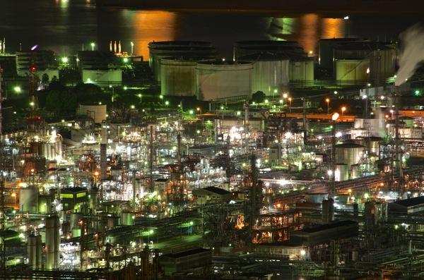 水島コンビナート夜景