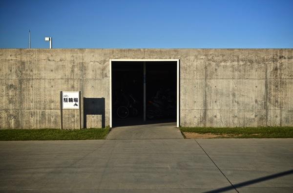 直島の駐輪場