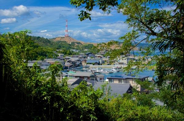 直島の町並み