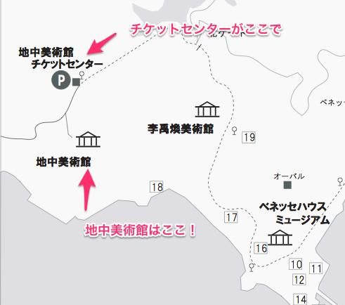 直島地中美術館周辺の地図