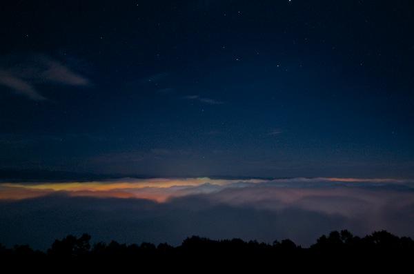 高谷山の雲海 夜景
