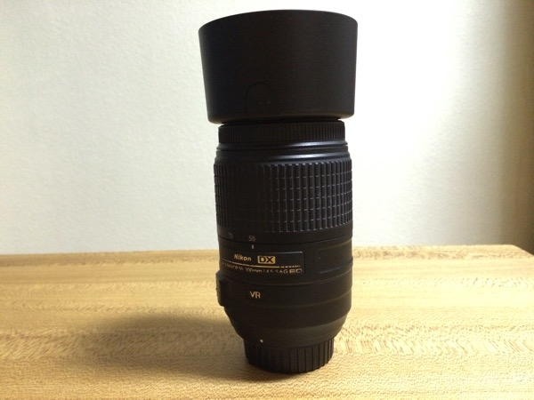 HB57をAF-S DX NIKKOR 55-300mm f/4.5-5.6G ED VRに装着