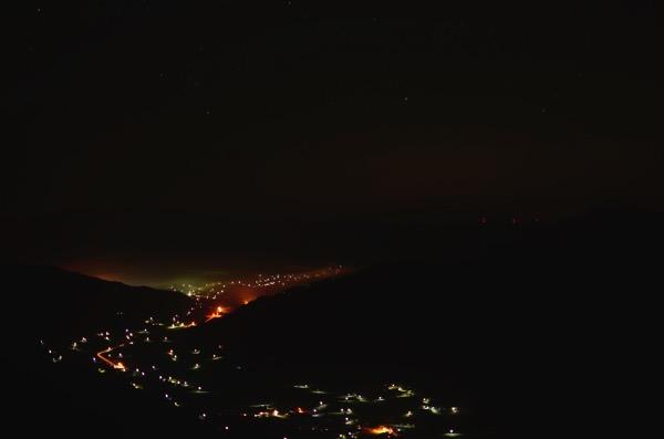 夜の荒谷山