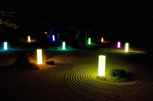 由志園庭園ライトアップ