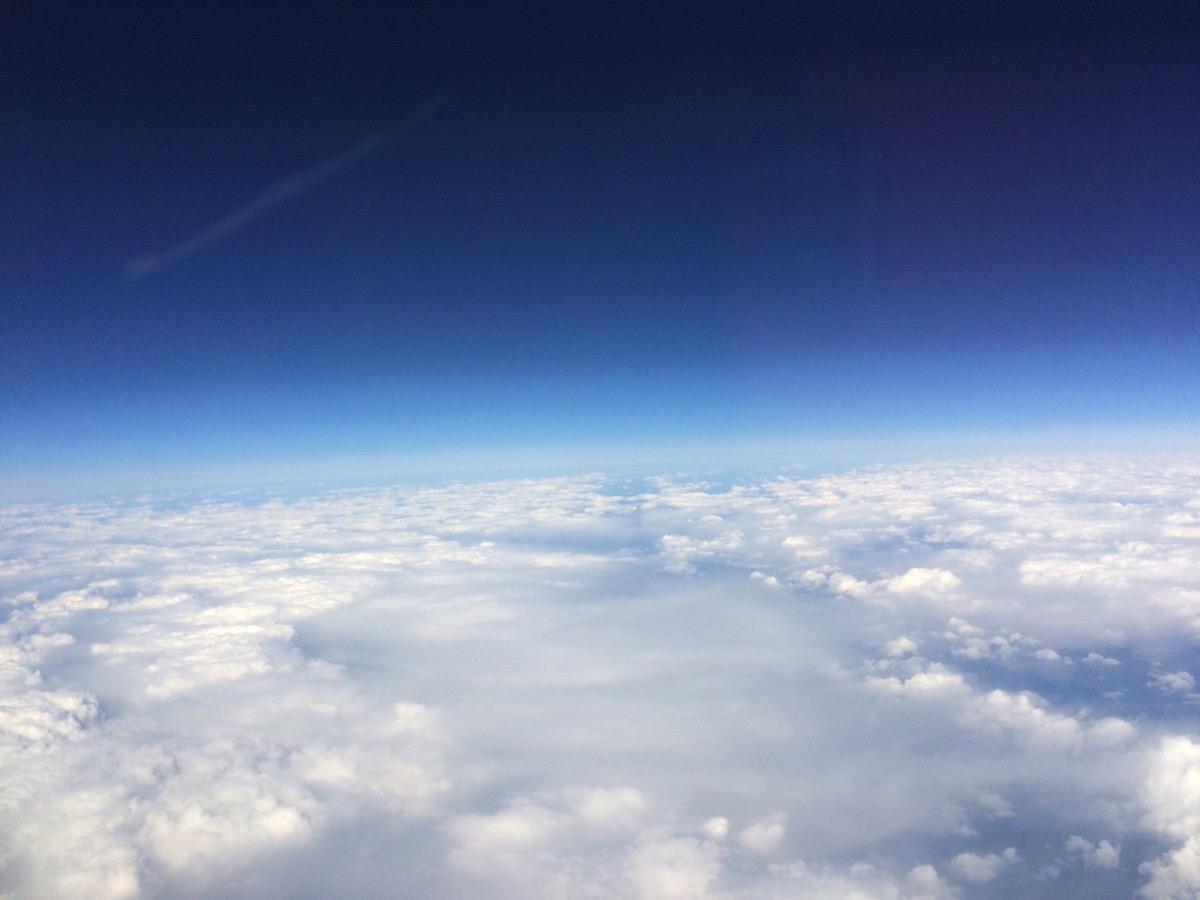 機内 雲海