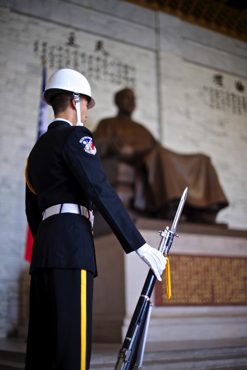 中正紀念堂の衛兵
