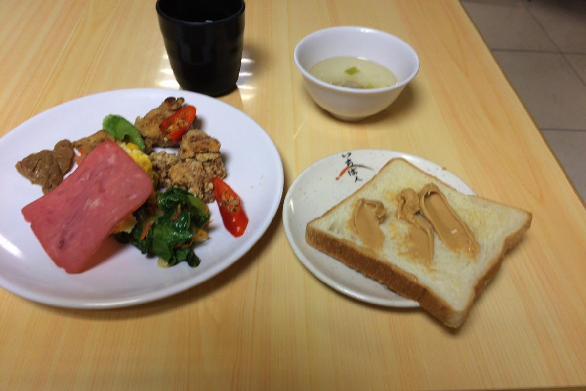 台湾のホテルの朝食