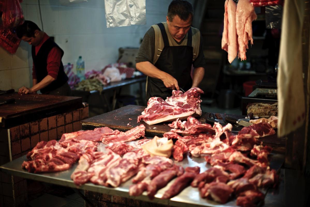 東三水街市場 肉屋