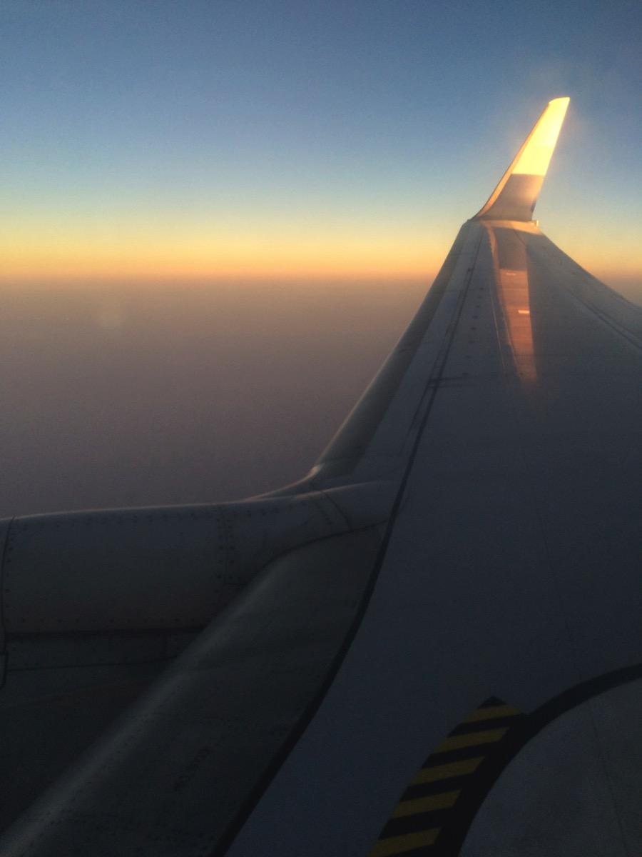 台湾からの機内