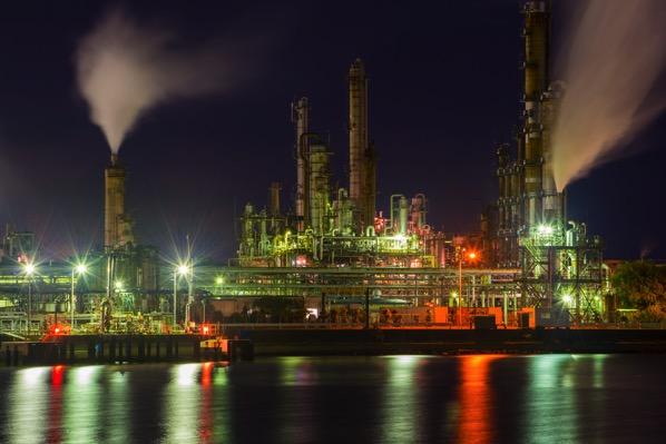 四日市ドーム前の工場夜景