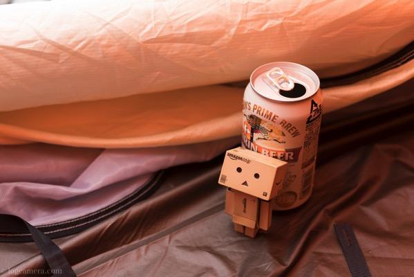 ダンボーとテントとビール