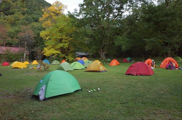 徳沢 キャンプ場