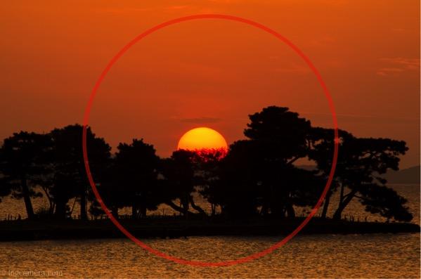 日の丸構図 宍道湖