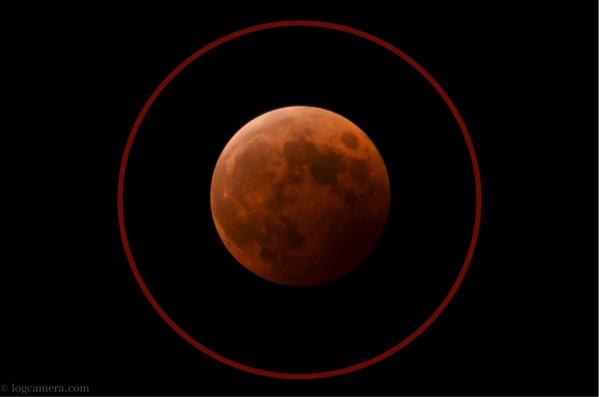 日の丸構図 月