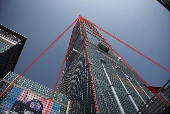 放射構図 台北101
