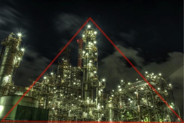 三角構図 工場