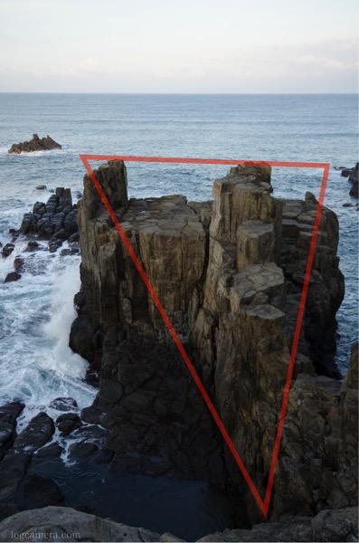 三角構図 東尋坊