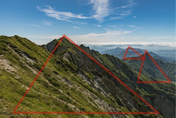 三角構図 大山