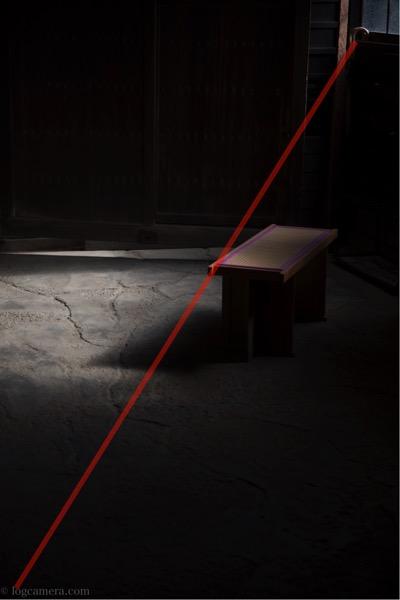 対角構図 光