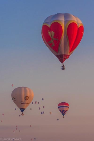 ハートの熱気球
