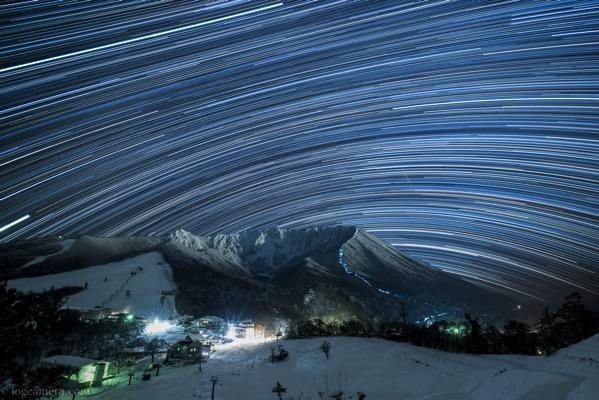 大山豪円山のろし台から見る星景