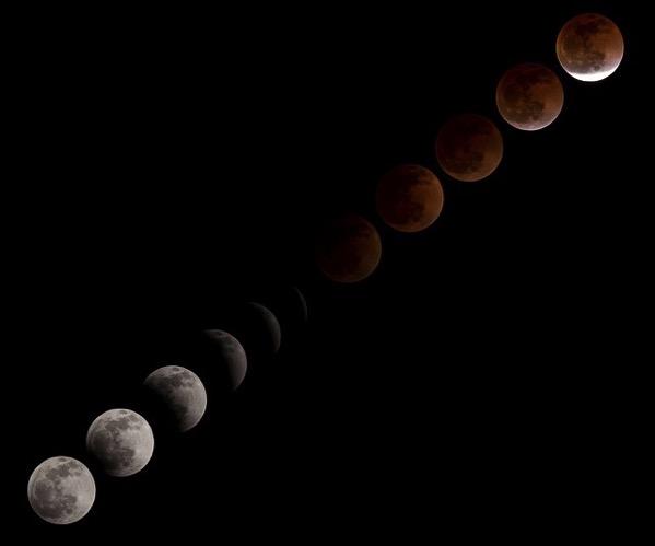 月食 タイマーレリーズ