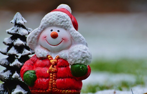 クリスマス 雪だるま