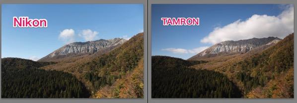 NikonとTAMRONの比較 28mm