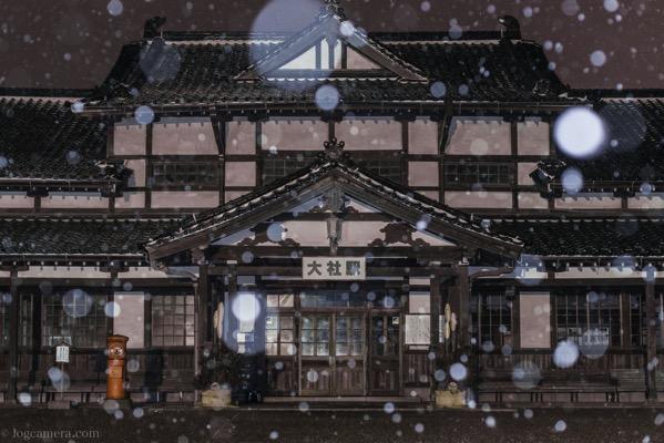 旧大社駅 雪 景色