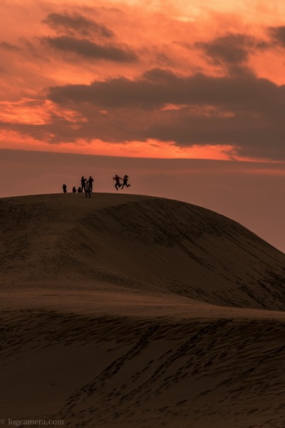 鳥取砂丘 シルエット