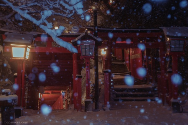 太鼓稲荷神社 雪
