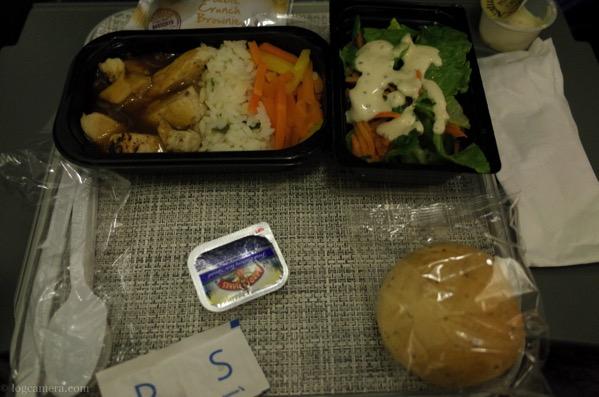 ボリビア 機内食