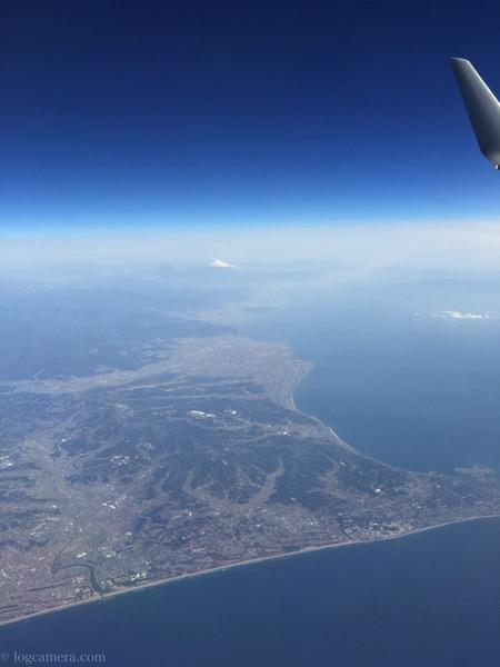 羽田への飛行機 富士山