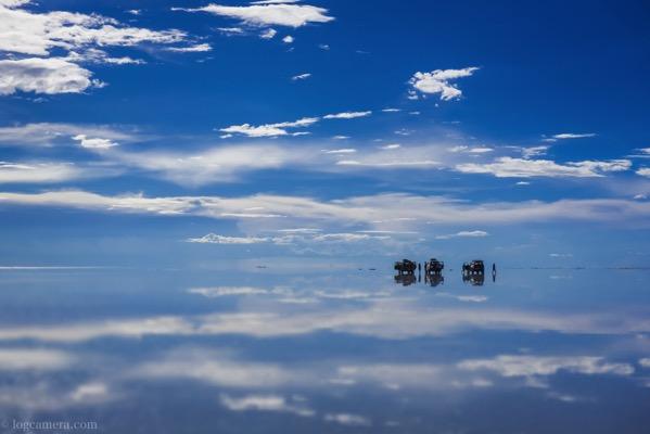 ウユニ塩湖 鏡張り